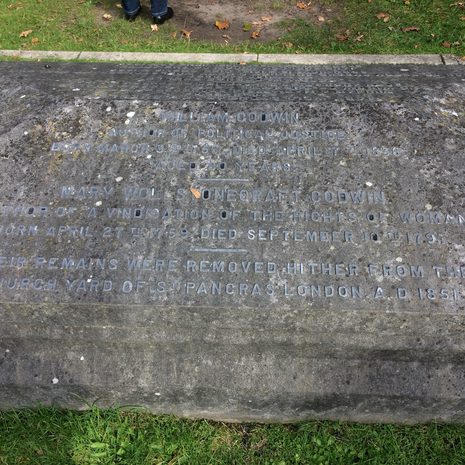 catherine redford s r ticism blog inscription commemorating mary wollstonecraft and william godwin