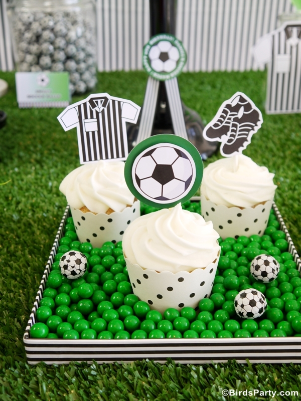 World Cup Party Ideas: Soccer Football Birthday Cupcakes