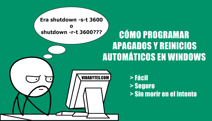 Programar apagados automáticos en Windows