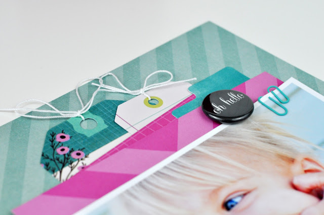 """""""Smile"""" Scrapbooking layout by Jen Gallacher from www.jengallacher.com (includes video). #scrapbooking"""
