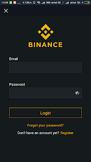 Binance Affiliate App login