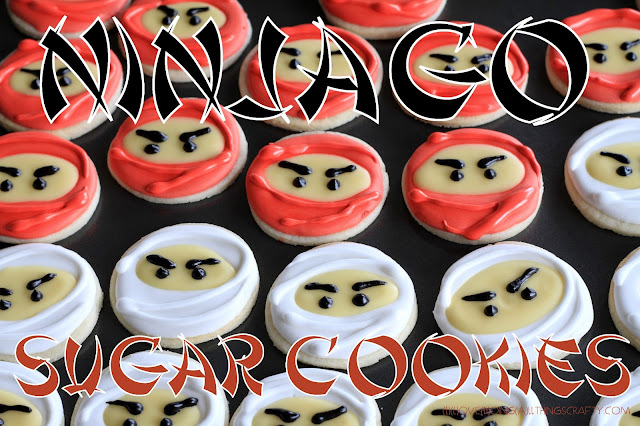 Ninjago Birthday Party Sugar Cookies