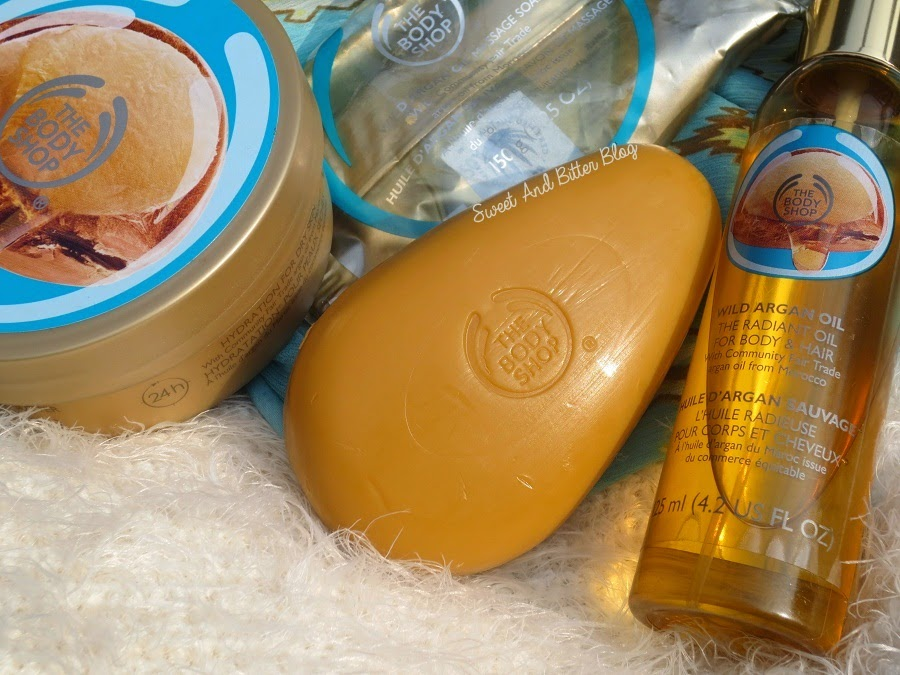 The Body Shop WILD ARGAN OIL Radiant Oil, Massage Soap and Body Butter Review