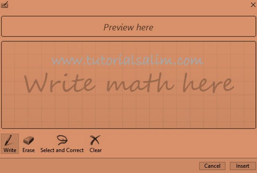 Cara Menulis Rumus Matematika di Excel Menggunakan Ink Ink Equation