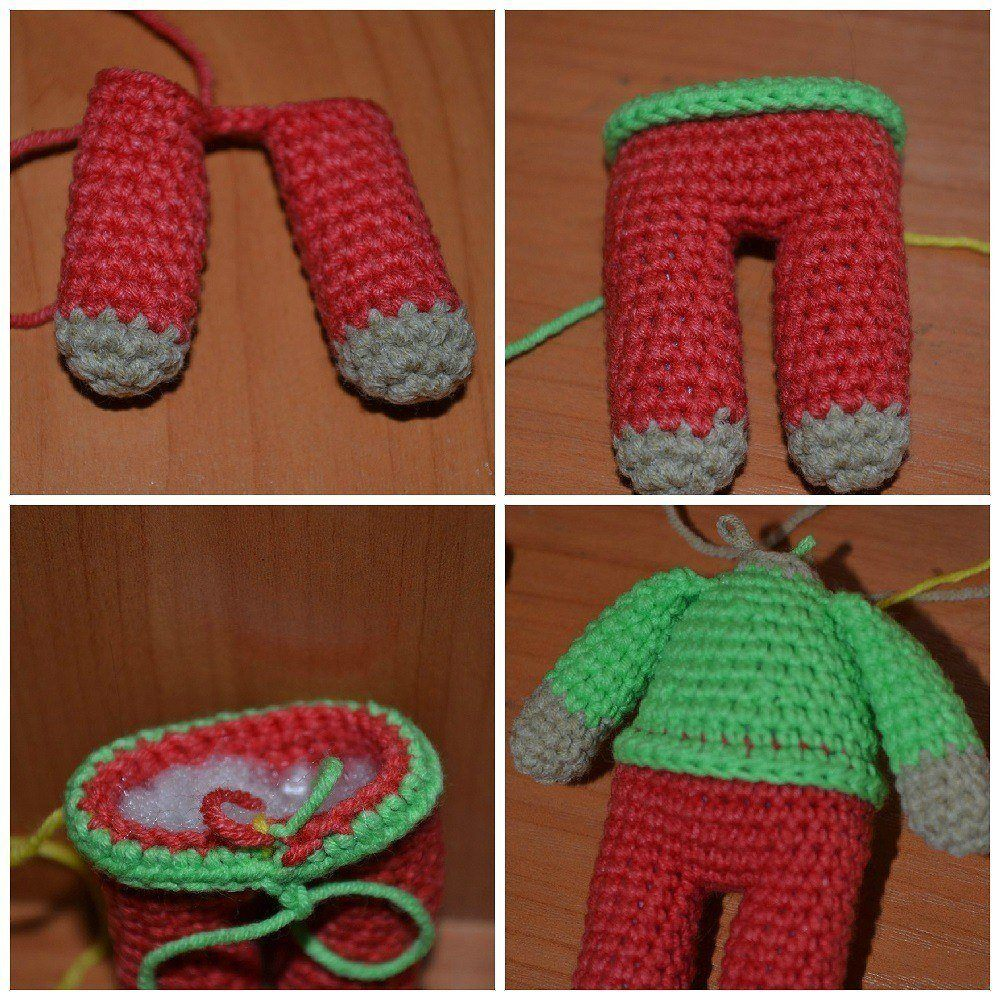 Reindeer amigurumi tutorial legs and body