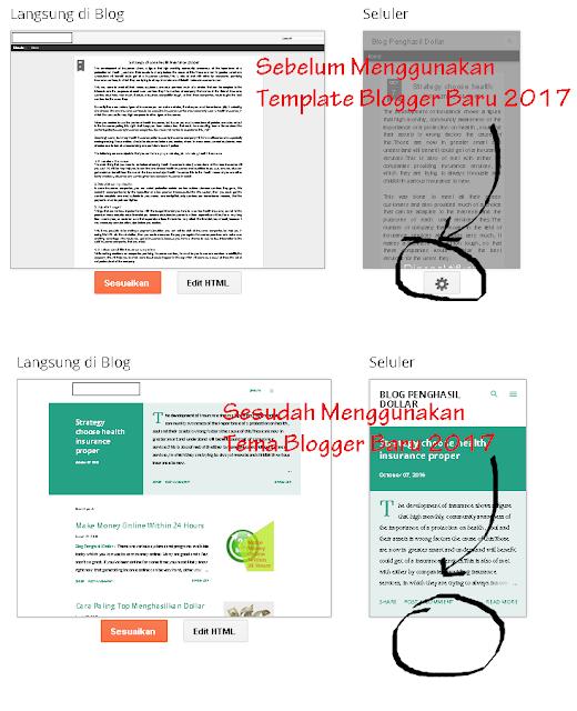 Perbedaan Tema Blogger Terbaru dan Lama