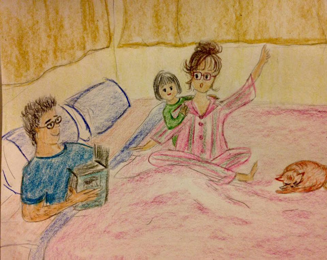 drawing family sketch motherhood love