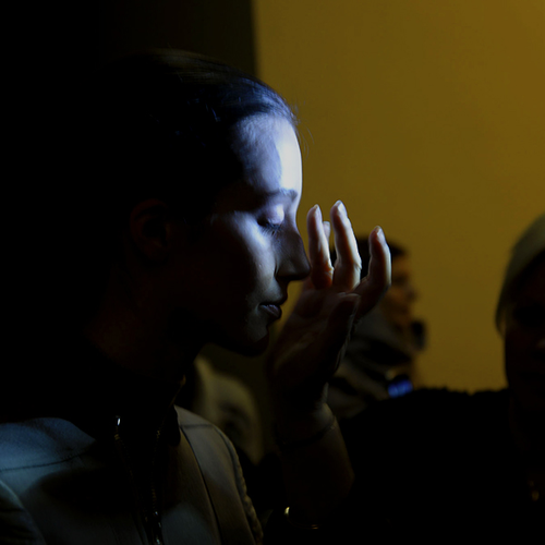 Backstage at Rick Owens, M∙A∙C AW14 Paris Fashion Week