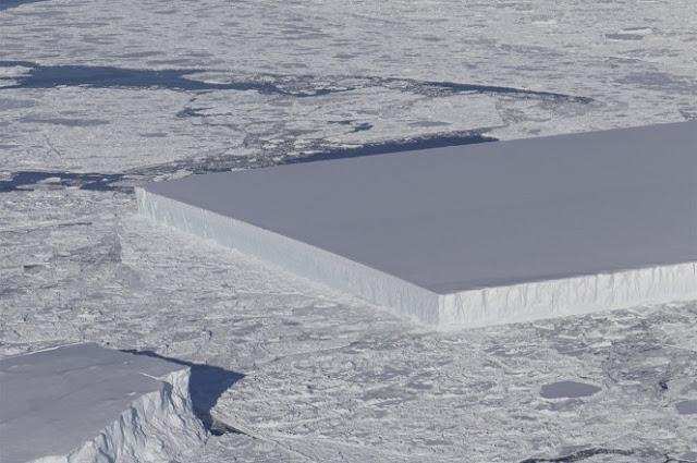 Вчені пояснили походження неймовірно рівного айсберга