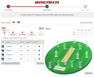 Dream11 Play Fantasy Cricket and Earn Real Money