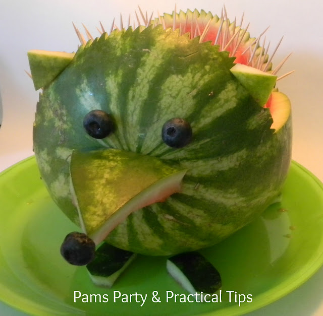 Watermelon Art, Watermelon Animals, hedgehogs