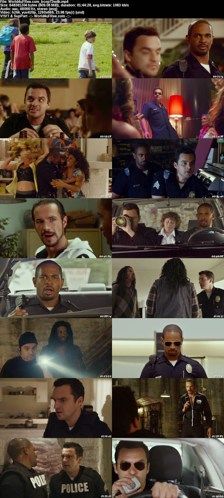 Let 39 S Be Cops 2014 720p Bluray 800mb Yify Mp4