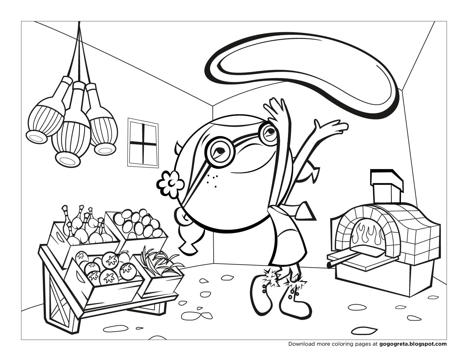 Pizza Chef Coloring Page Pages