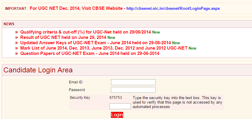 UGC NET JRF Exam 29 06 2014 Mark List-Question Papers and