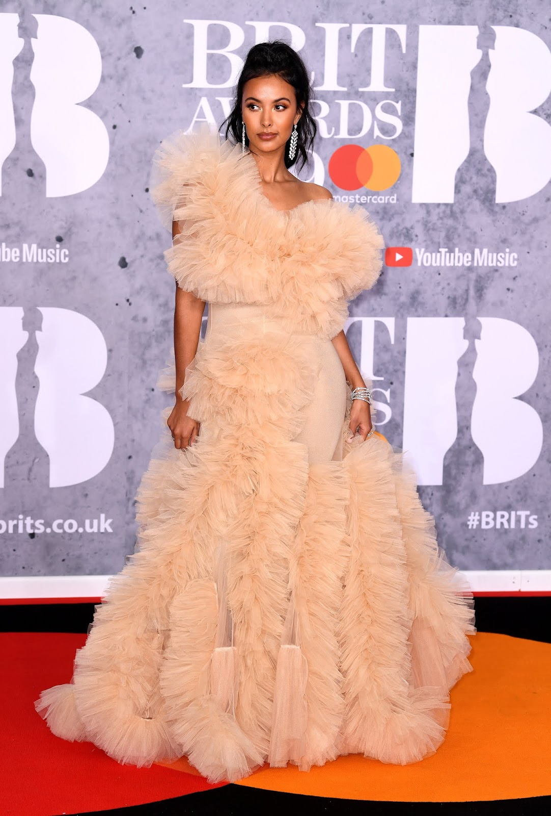 Maya Jama - 39th BRIT Awards 2019 at The O2 Arena in London 02/20/19