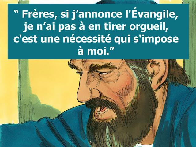"""""""Annoncer l'évangile est une nécessité"""" (Lettre de Saint Paul)"""