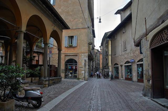 Bergamo alta citta uliczki