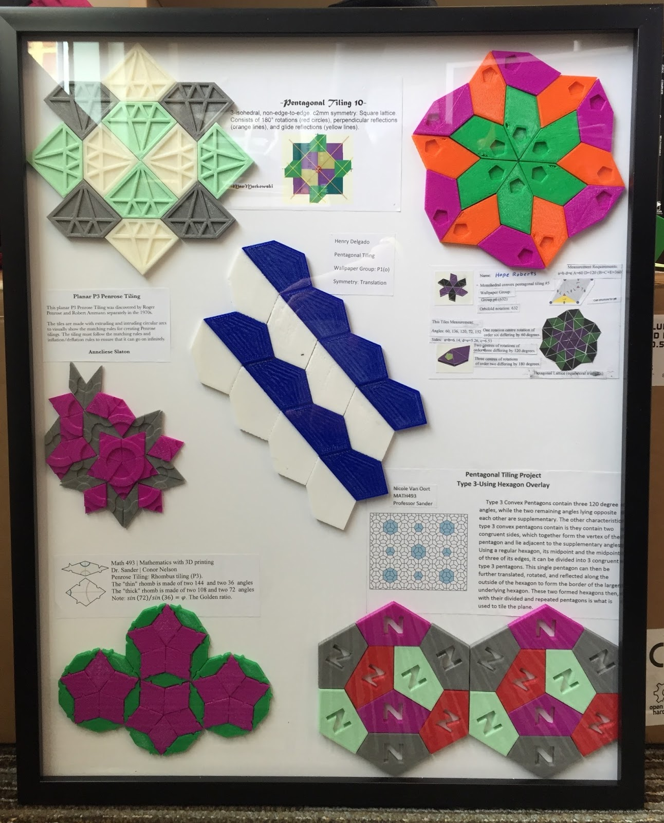 Color printing gmu - Pentagon Tilings And Penrose Tilings There Are Only 15 Known Pentagons Which Can Be Used As A Single Tile In A Repeatable Periodic Fashion Throughout The