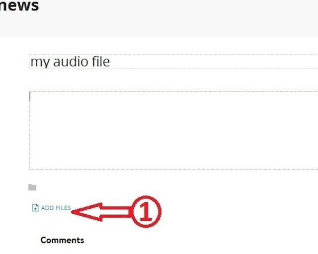 audio file in blog