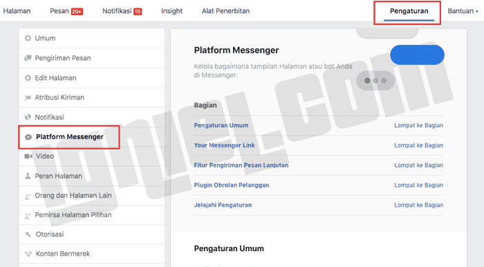 Cara Memasang Plugin Live Chat Facebook Messenger di Blog
