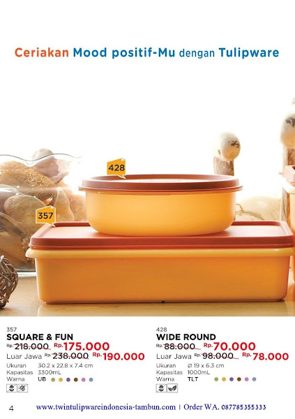 Promo Diskon Square & Fun - Wide Round