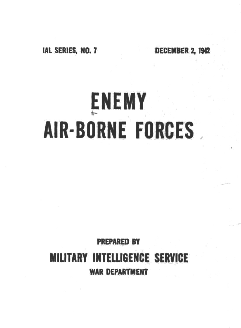 Free Military Manuals: Enemy Air-Borne Forces