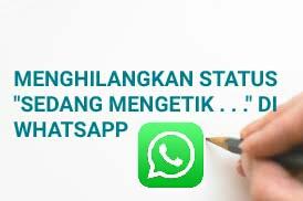 Cara Baru Menghilangkan Status Sedang Mengetik Di WhatsApp