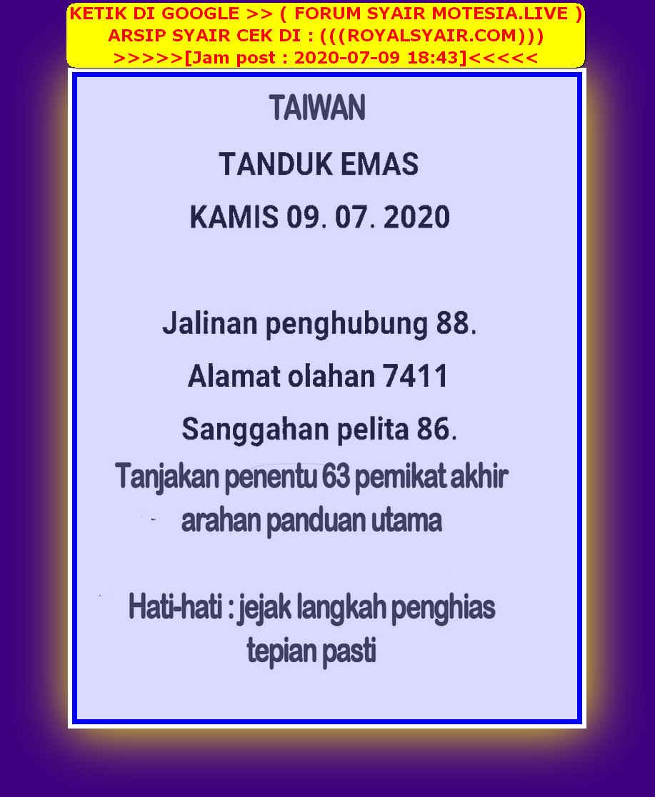 Kode syair Hongkong Kamis 9 Juli 2020 41