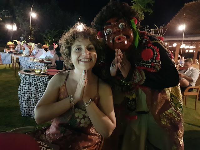 Danza tradizionale balinese all'Alaya resort, Ubud-Bali