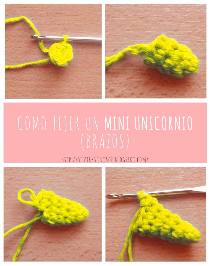 mini unicornio amigurumi foto tutorial