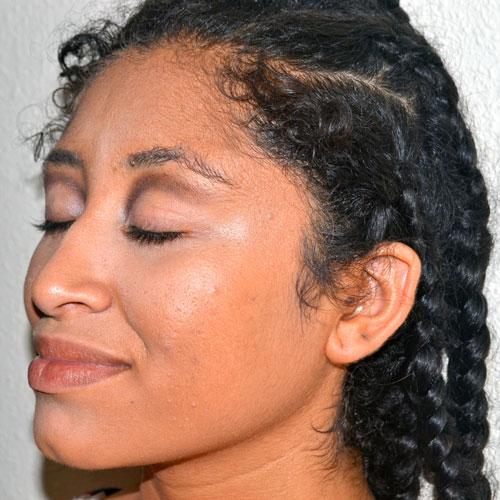 Cut crease piel negra