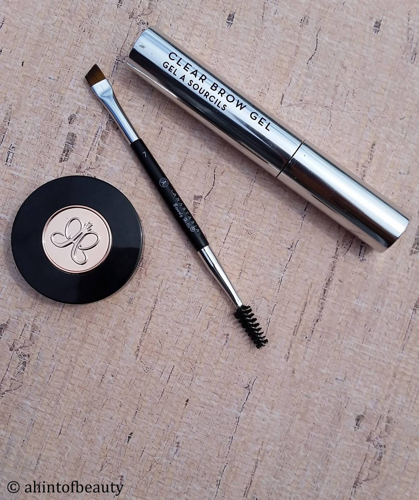 anastasia eyebrow kit. i was always plucking my eyebrows or getting them threaded in high school. wish had just grown out a little, not touched at all. anastasia eyebrow kit w