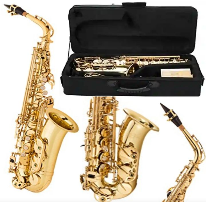 JP Alto Saxophone with Carrying Case - Beginners Sax Instrument by Jean Paul (AS-400)