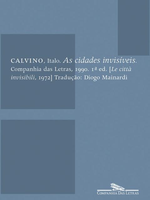 As cidades invisíveis - Italo Calvino