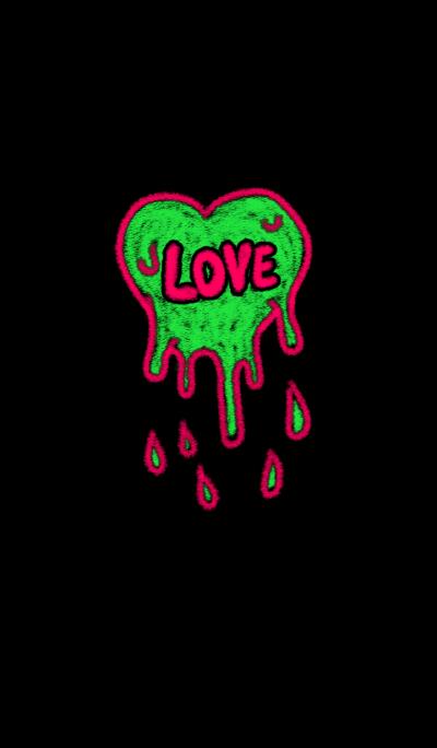 Zombie heart chalk art