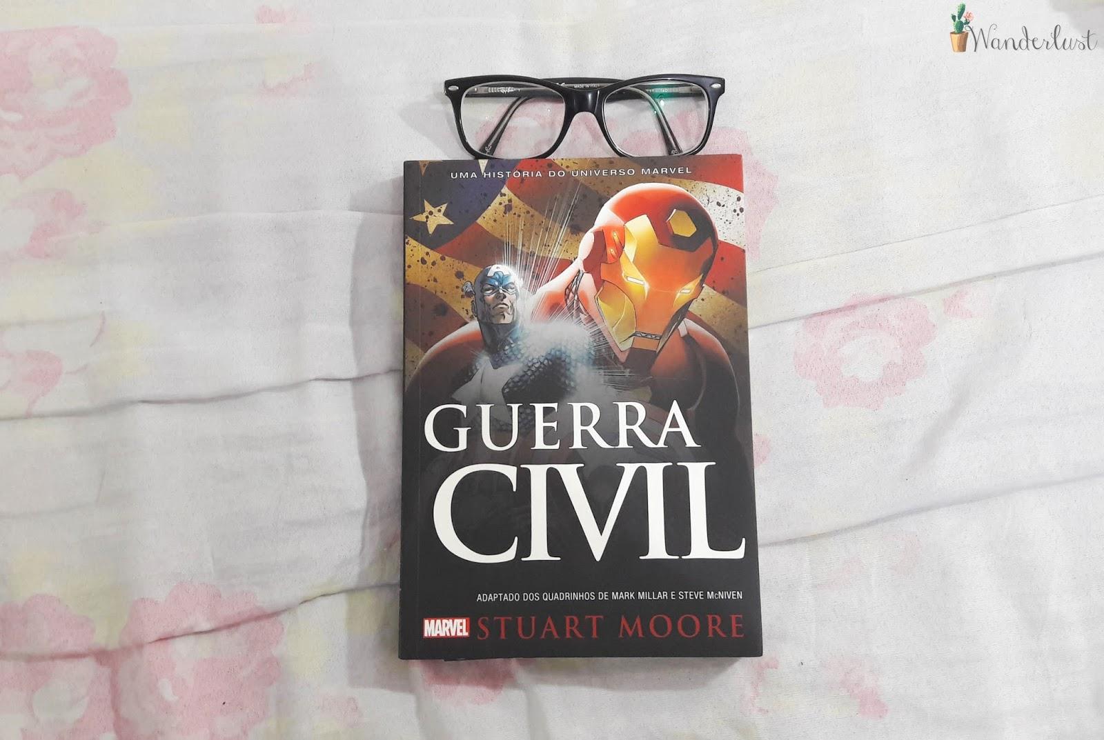 leituras, micaela ramos, livro, fotografia, guerra civil, nerd, marvel, stuart moore,