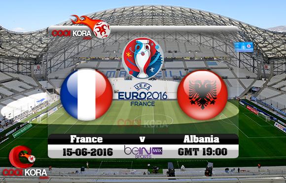 مشاهدة مباراة فرنسا وألبانيا اليوم 15-6-2016 بي أن ماكس يورو 2016