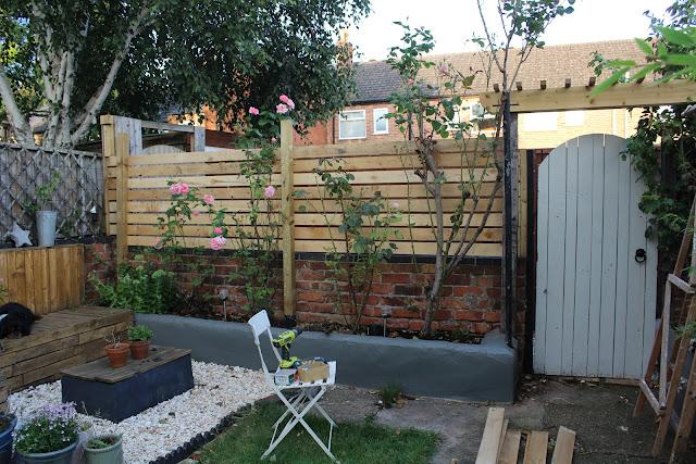 rustic pallet fencing in garden
