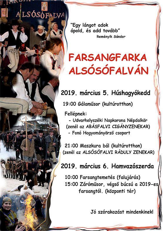 Farsangfarka Alsósófalván - 2019