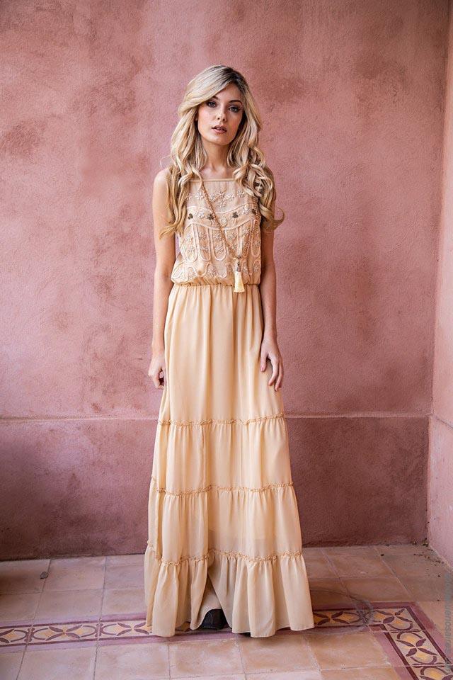 Vestidos largos moda mujer primavera verano 2019.