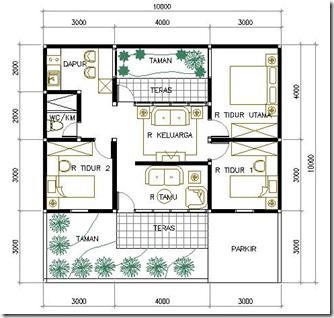 Contoh Denah Rumah Minimalis Type 80