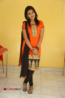 Telugu Actress Chandana Stills in Salwar Kameez at Karam Dosa Movie Press Meet  0109.JPG