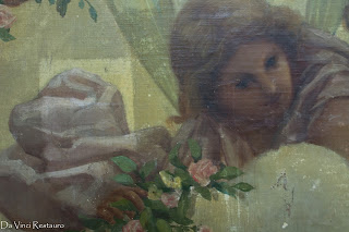 restauracion pintura mural sobre lienzo
