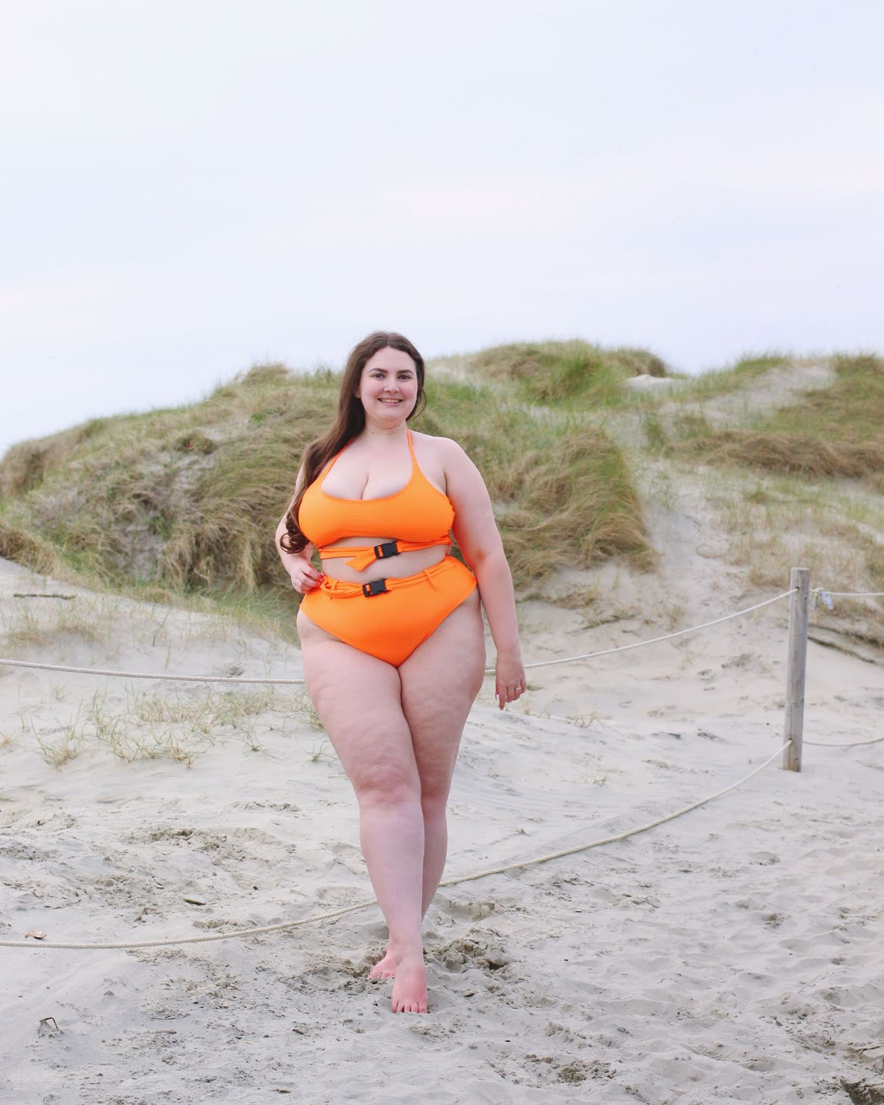 Orange plus size pretty little thing bikini