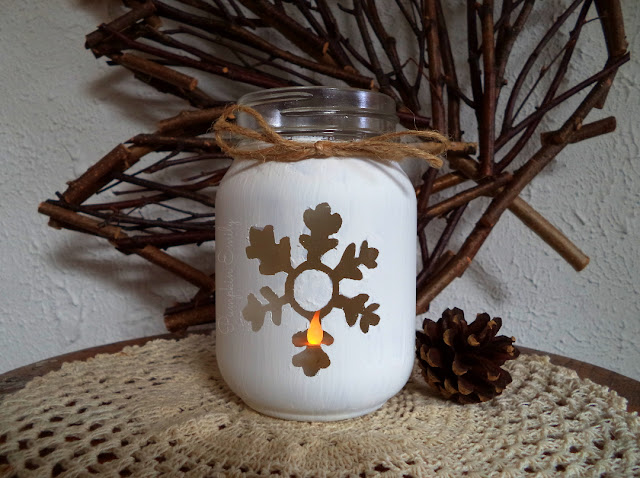 DIY Snowflake Jar | How To Make a Snowflake Jar