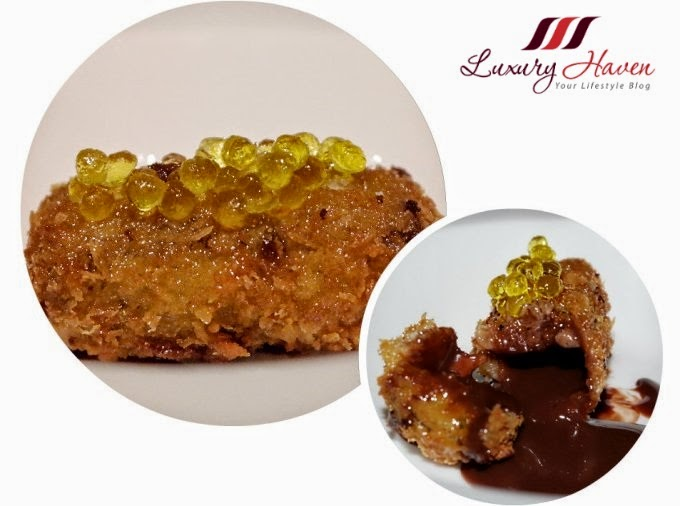 gaia italian restaurant chocolate croquette caviar oil reviews