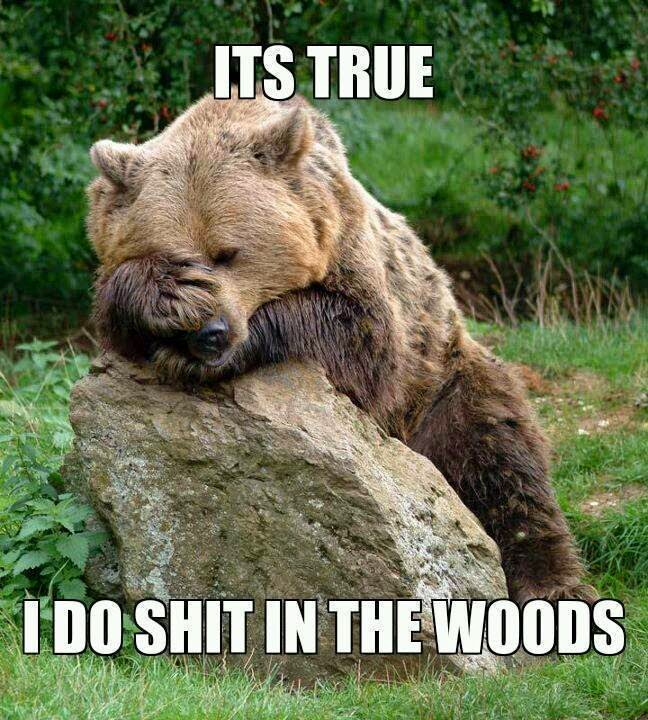 It's True  I do shit in the woods  ~ Joke All You Can