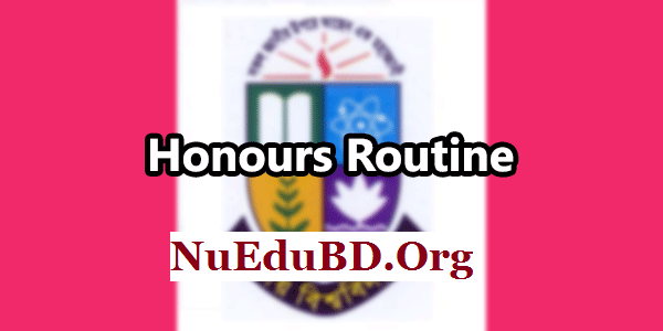 NU Honours 3rd Year Routine and Center List 2017