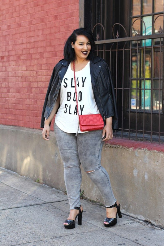 9 Plus Size Slogan Tees and Denim Looks To Envy