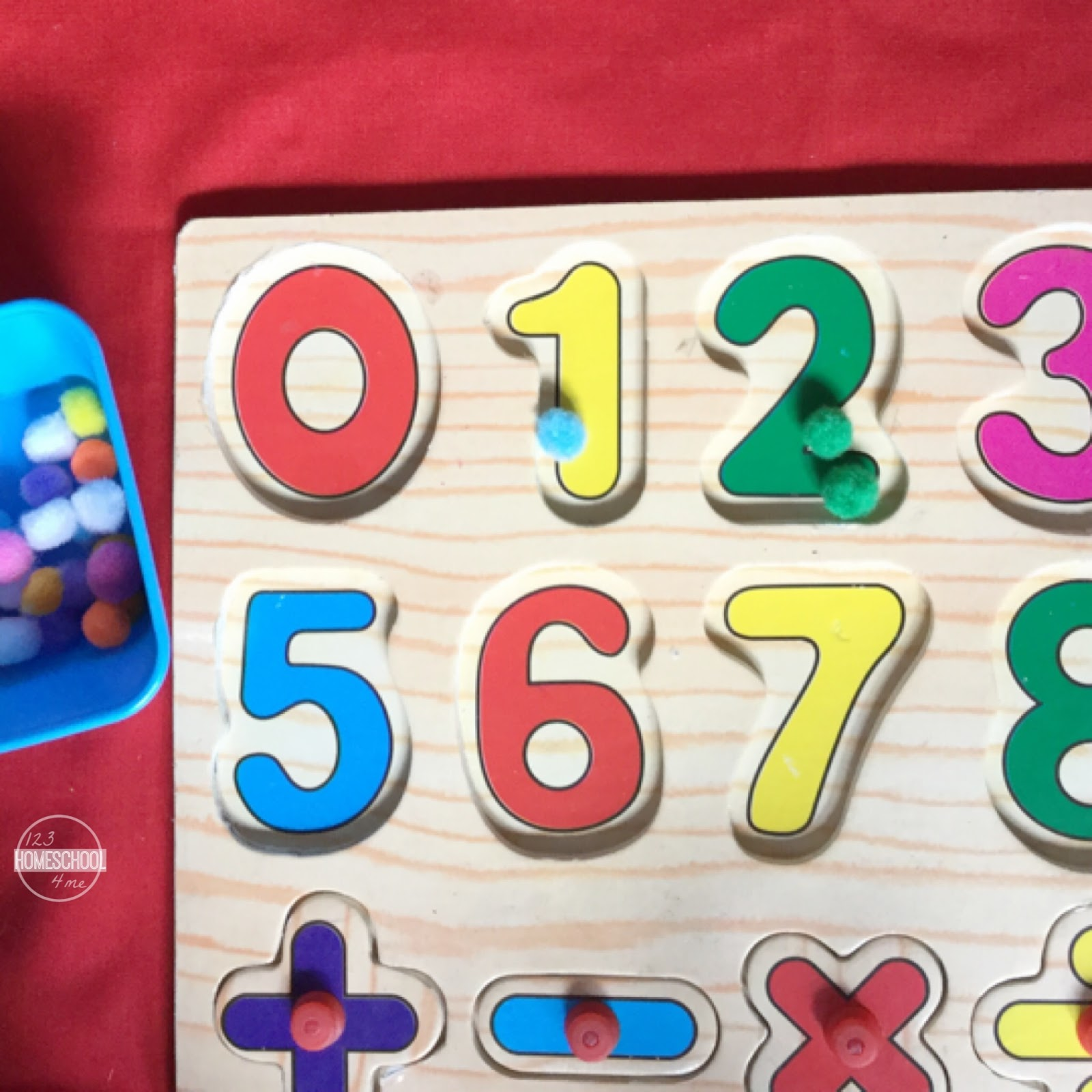 Puzzle Amp Pom Pom Counting Activity